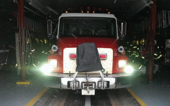 Street Legal 'Driver 7R' installed on Fire Truck
