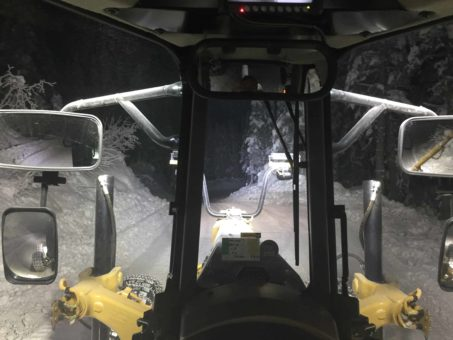 Grader View From Cab using NightRider Lights