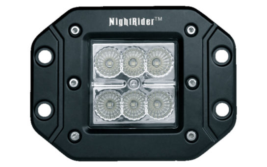 "Flush Mount 3"" Cube Flood Beam - Front View"