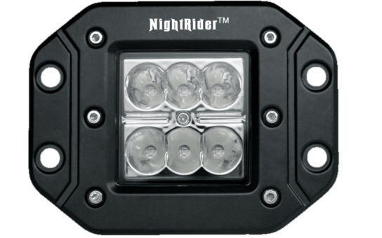 "Flush Mount 3"" Cube Spot - Front View"