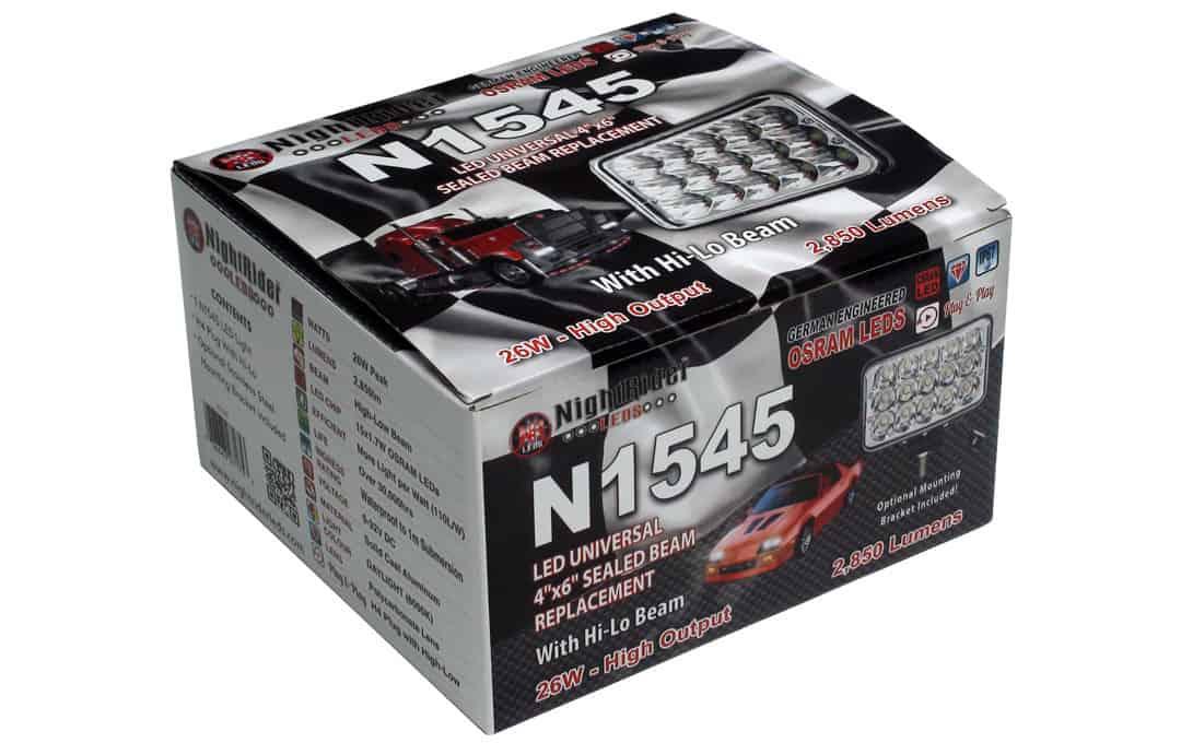 "4x6"" Universal Headlamp boxed up"
