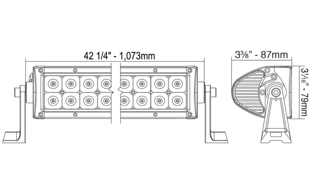 40 u0026quot  double row light bar