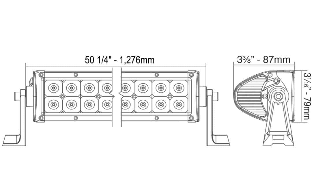 50 u0026quot  double row light bar