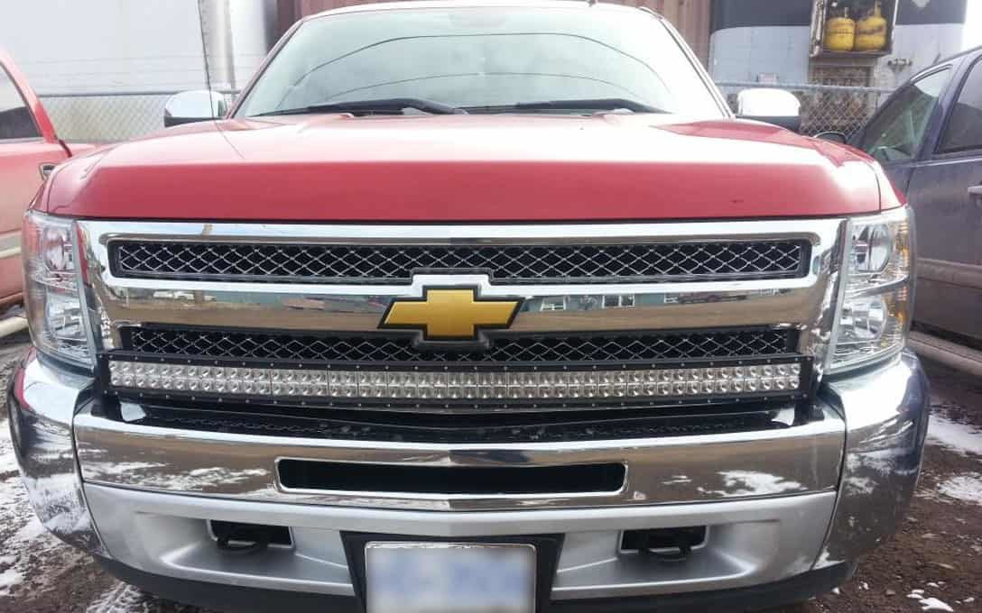 "Rider Series 50"" Double Row Light Bar Installed on Chevy"
