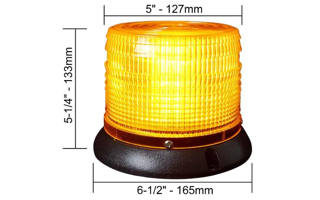 """5"""" LED Strobe Light Dimensions"""