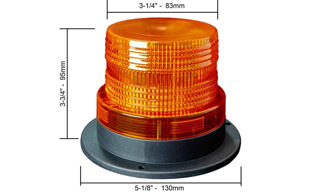 "3"" LED Strobe Light - Dimensions"