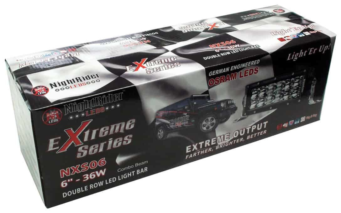 "Extreme Series 6"" Double Row Light Bar all boxed up."