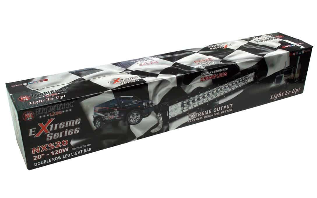 """Extreme 20"""" Double Row Light Bar boxed up."""
