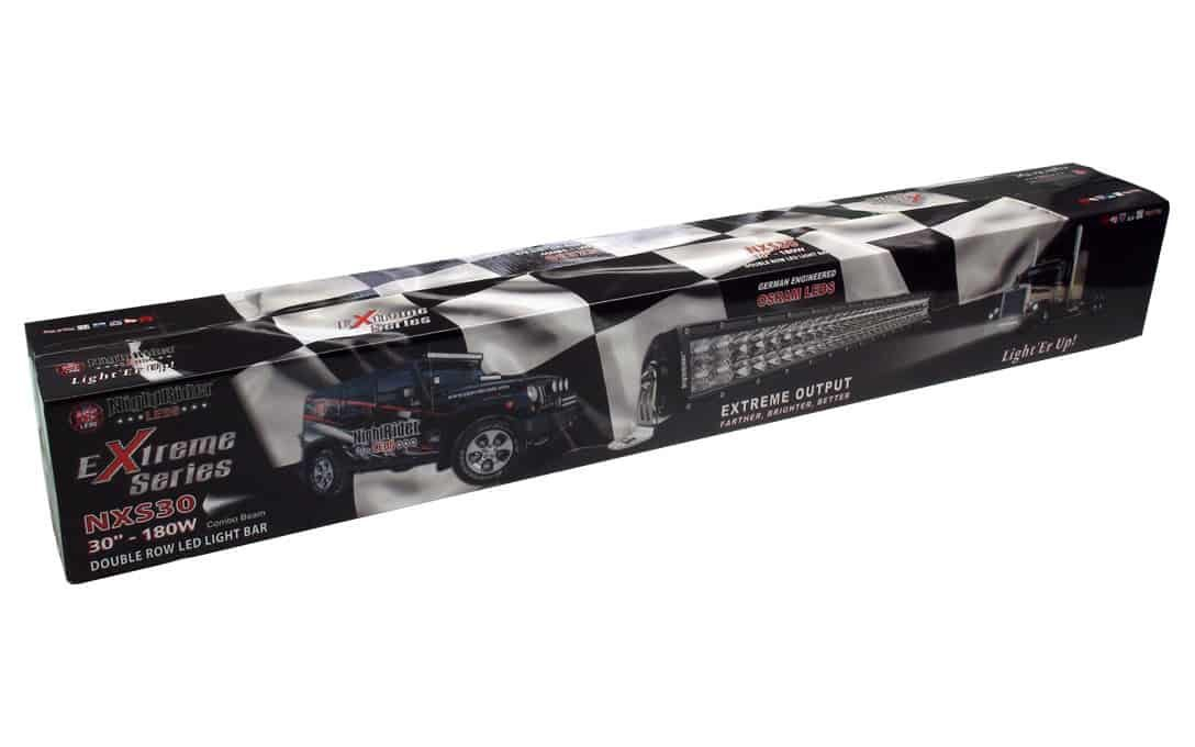 """Extreme 30"""" Double Row Light Bar all boxed up"""