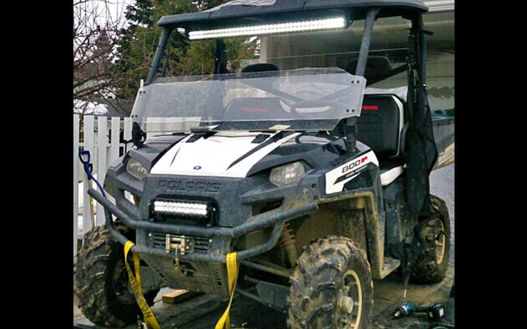 "Rider Series 40"" and 12"" Straight Double Row Light Bar installed on Polaris"