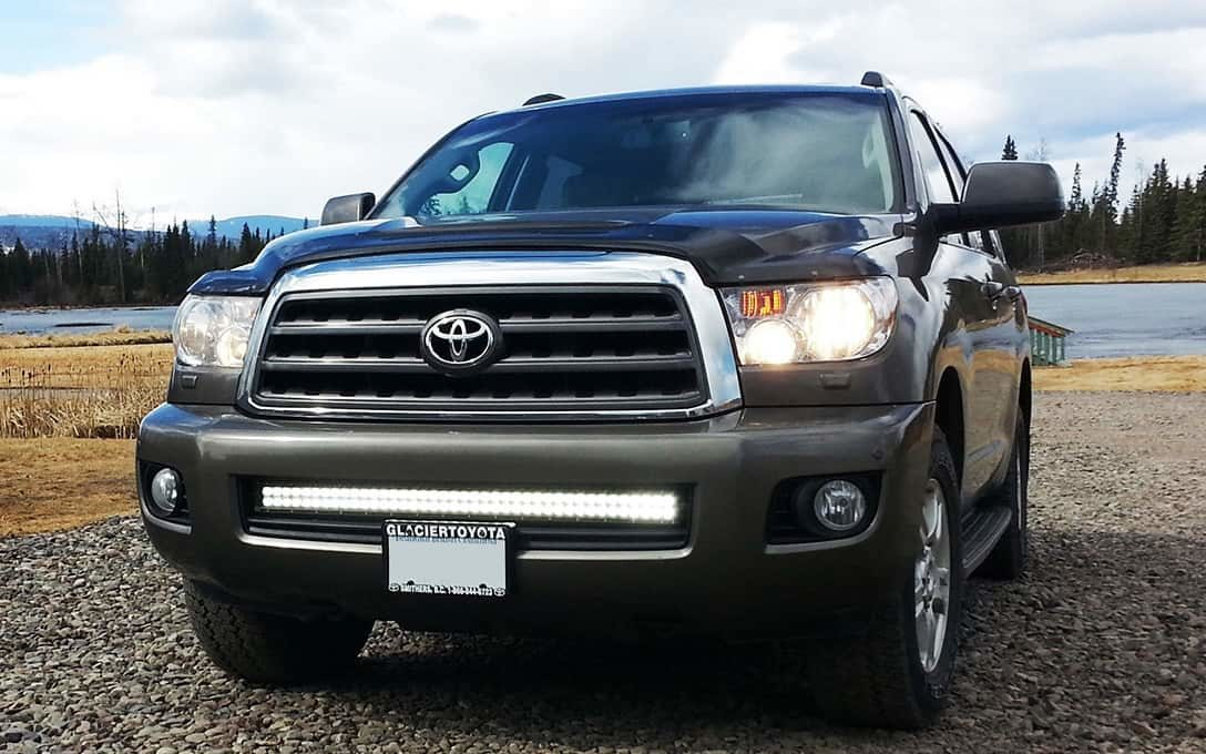 "Rider Series 40"" Straight Double Row Light Bar installed on Toyota Sequoia"
