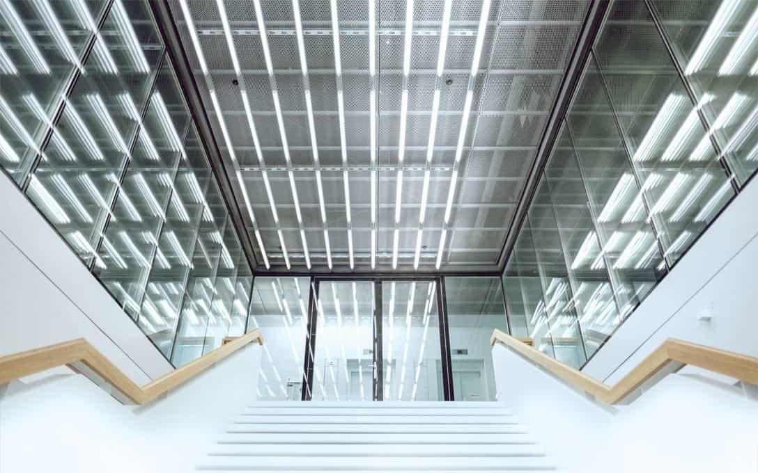 Tube Lights in Stairway