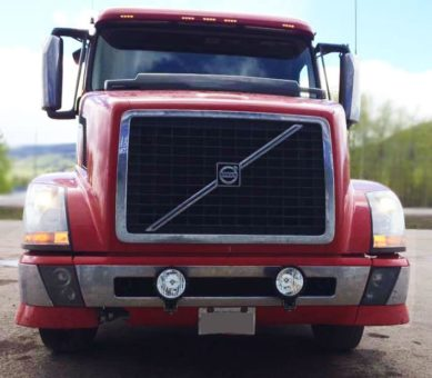 Volvo Semi-Truck with NightDriver D1 Street Legal SAE Certified Light Kit