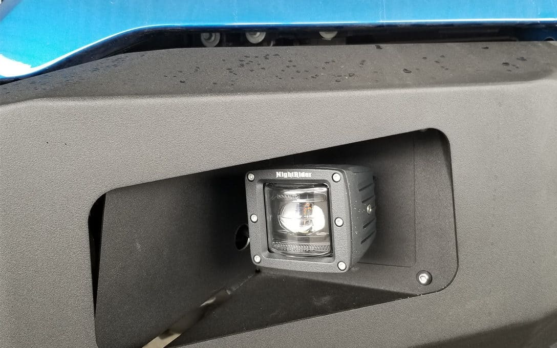 Fog Light Intalled in Custom Bumper