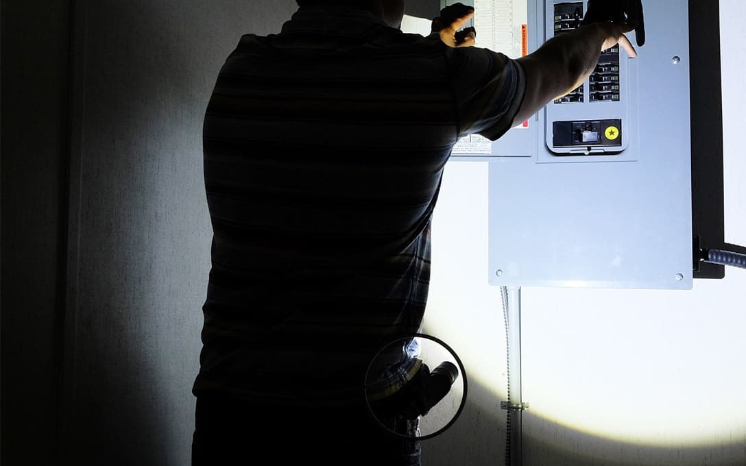Stretch Holster in Use during a power out.