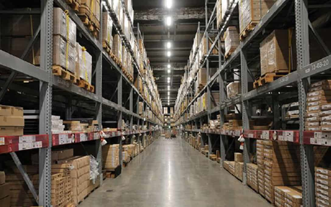 High Bay Troffer Lights in Warehouse