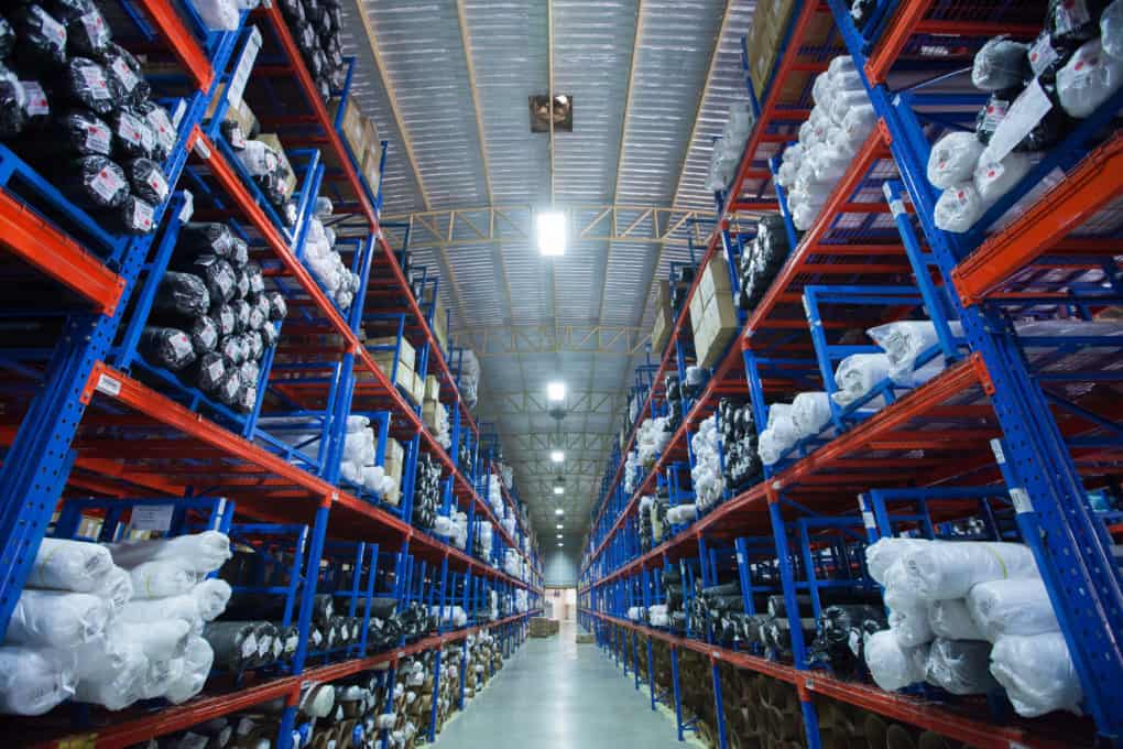 NightRider™ LED High Bay Linear Troffer Lights in shadow free warehouse