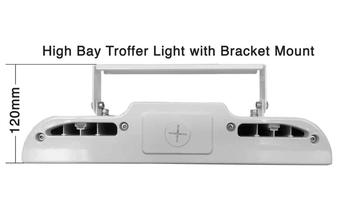 High Bay Troffer Light with Ceiling Bracket