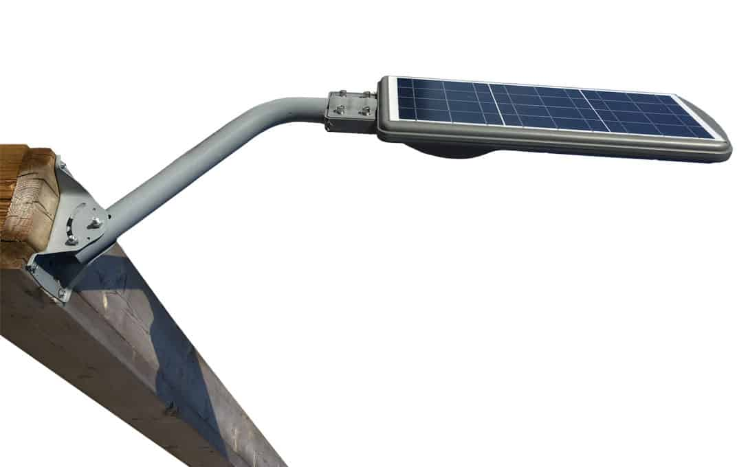 30W Solar LED Light installed with Mounting Arm