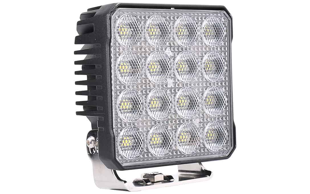 "High Intensity 4.5"" Square Work Light - Side View"