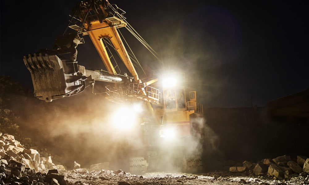 Mining Shovel at Night