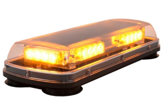 """17"""" SAE certified Beacon Bar with clear cover turned on"""
