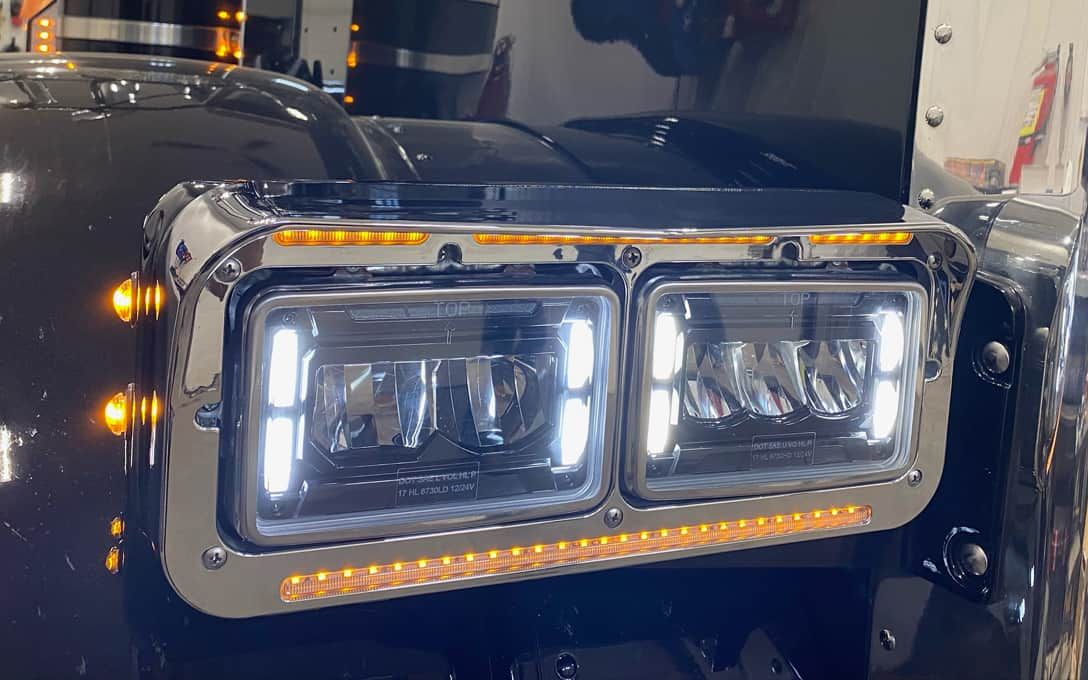 4x6 Sealed Beam Replacement Headlights Installed