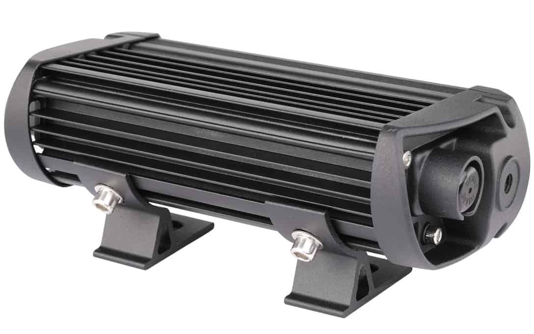 SAE/DOT Fog Light Bar - Rear View with sliding mounts