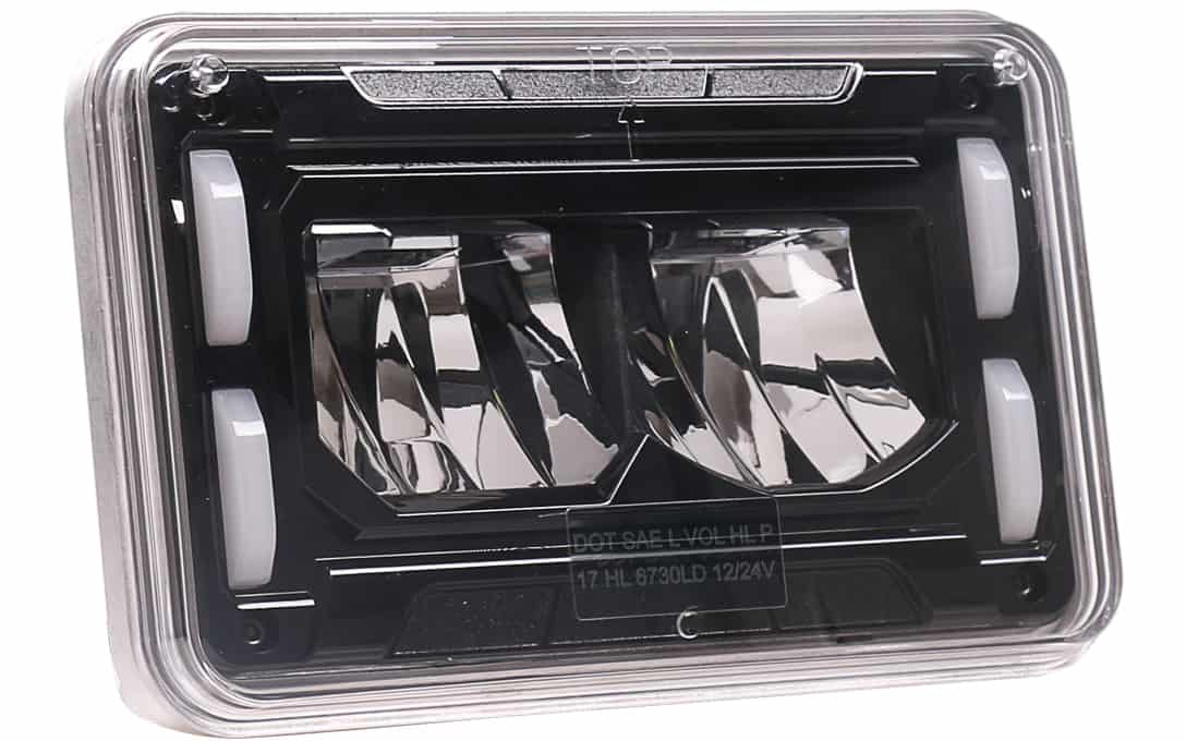 4x6 SAE/DOT Sealed Beam Replacement Headlight - Low Beam