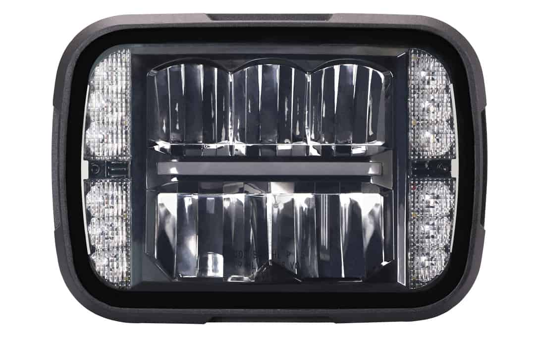 Front View of 5x7 Sealed Beam Replacement Headlight