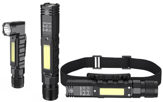 NFPro5 Flashlight, Work Light, Headlamp - all in one