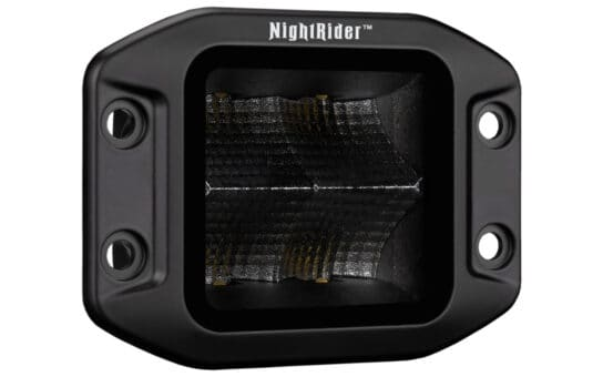 "3"" JET BLACK 40W Inset Flush Mount Cube - Flood Beam"