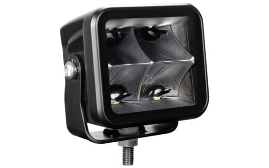 "3"" JET BLACK 40W Cube Light with Spot Beam"
