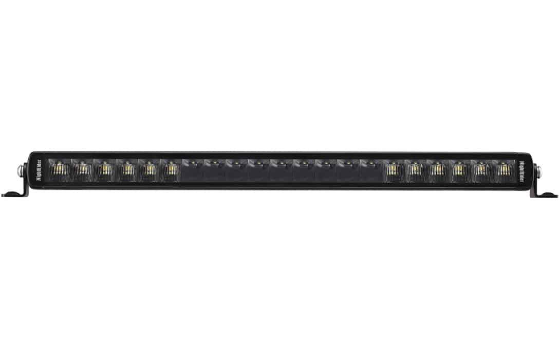 "20"" Jet Black Ultra Slim Bar - Front View"