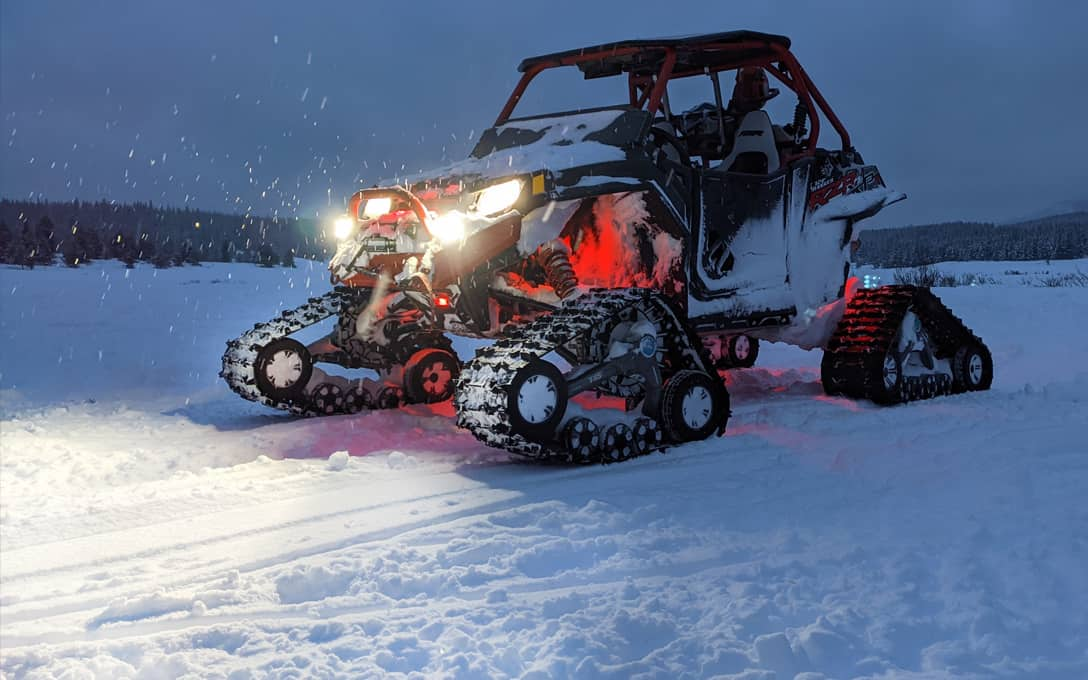 Polaris RZR with NightRider™ Side Shooters and Rock Lights