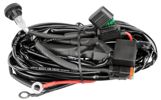 Complete Wiring Harness with Rocker Switch, Fuse and Relay