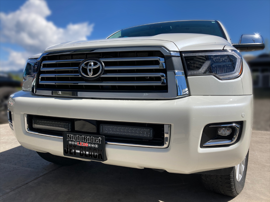 Toyota Sequoia with two JET BLACK Double Row Light Bars, ECE certified for street legal* use