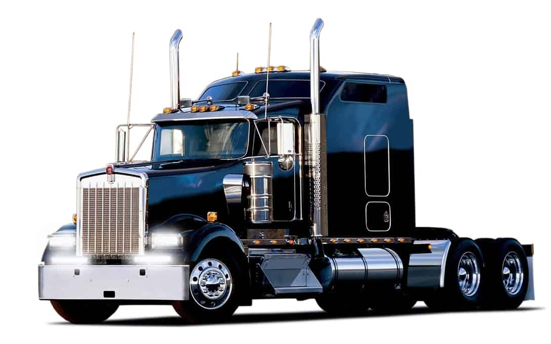 Two NightRider™ SAE Double Row Bars Mounted on Transport Truck
