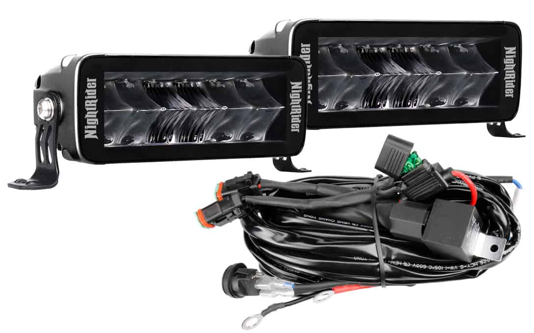 """Jet Black 7"""" Double Row Auxiliary Driving Light Kit"""