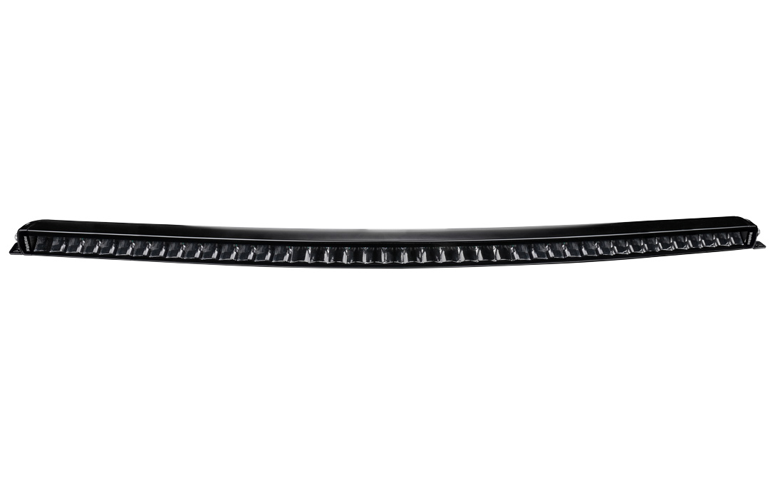 """40"""" JET BLACK Curved Single Row Bar with E-Mark Certification - Front View"""